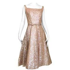 1950s Maurice Rentner Sequin Cocktail Dress