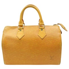 Louis Vuitton Speedy 25 868617 Yellow Leather Satchel