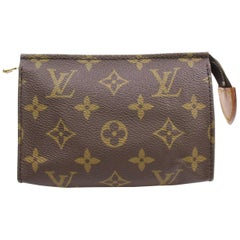 Louis Vuitton Brown Poche Monogram Toiletry Pouch 15 Toilette 868519 Cosmetic Ba