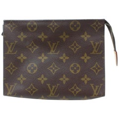 Louis Vuitton Brown Poche Monogram Toiletry Pouch 19 Toilette 868551 Cosmetic Ba