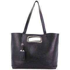 Prada Open Shopping Tote Leather Medium