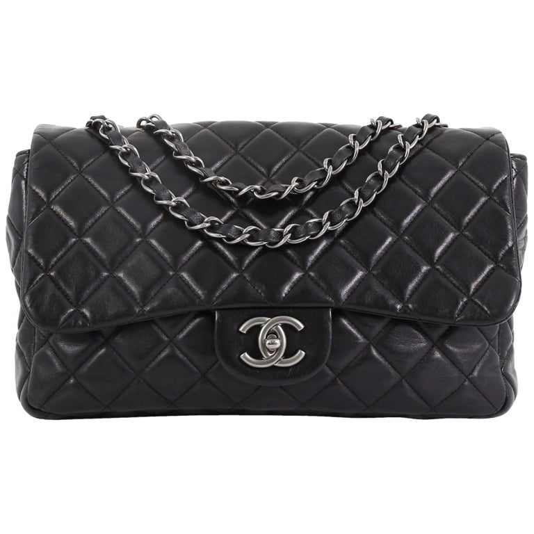 af5c7e39eb9 Chanel Classic Single Flap Bag Quilted Lambskin Jumbo For Sale at ...