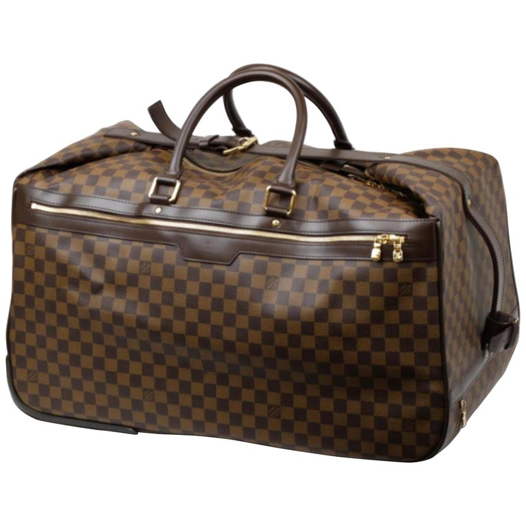 8873476faa24 Louis Vuitton Duffle Eole Damier Ebene 50 Rolling Luggage 2way 234985 Travel  Bag For Sale