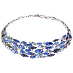 Simon Harrison Aquarius Ombre Crystal Necklace