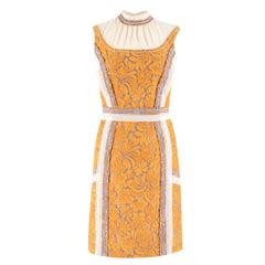 Prada Floral-Cloque Pencil Dress US 0-2