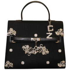 Carlo Zini Milano Black Jewel Bag
