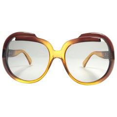 New Vintage Cobra Optyl 3000 Ombre Amber Oversized Optyl Sunglasses