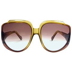 New Vintage Cobra Optyl 3001 Ombre Amber Oversized Optyl Sunglasses