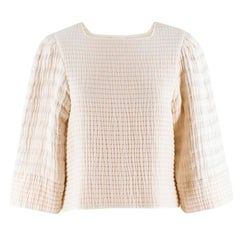 Isabel Marant Greg quilted-cotton cream top US 4