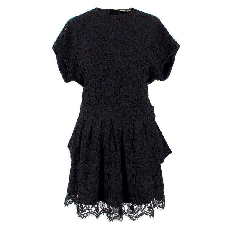 Balenciaga Lace Little Black Dress US 6 For Sale