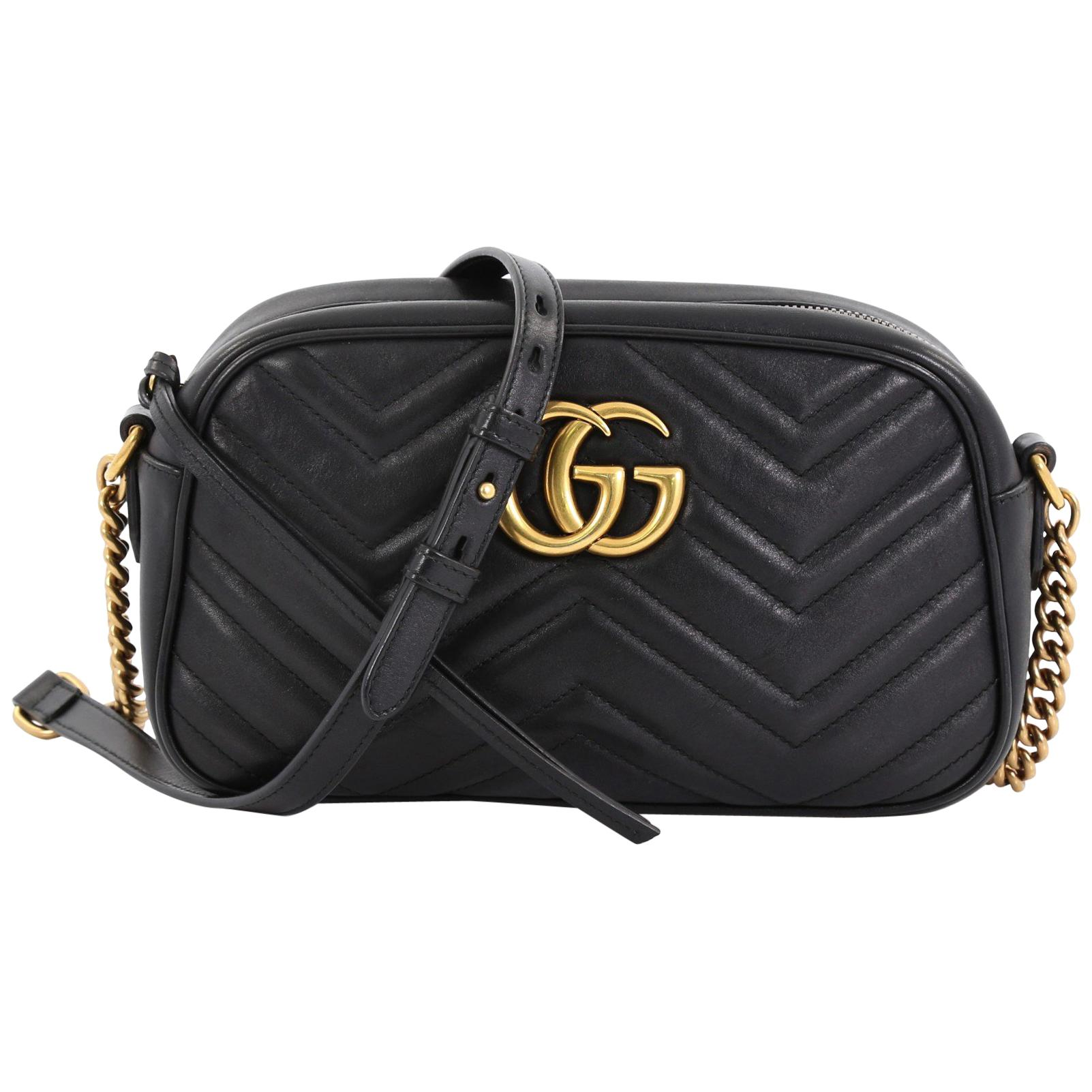 a33091914 Gucci GG Marmont Shoulder Bag Matelasse Leather Small at 1stdibs
