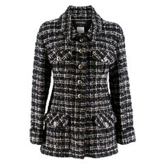 Chanel Black & White Classic Tweed Jacket US 0-2