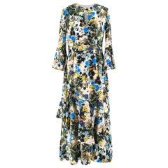 Erdem Florence Mariko Meadow-print silk dress US 6