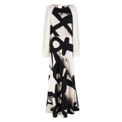 MaxMara Cream Long sleeve Maxi Dress US 6