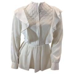 Givenchy White Silk Blouse