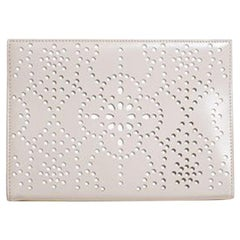Azzedine Alaïa Laser-Cut Leather Clutch Bag