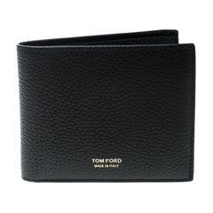 Tom Ford Black Leather Bifold Wallet