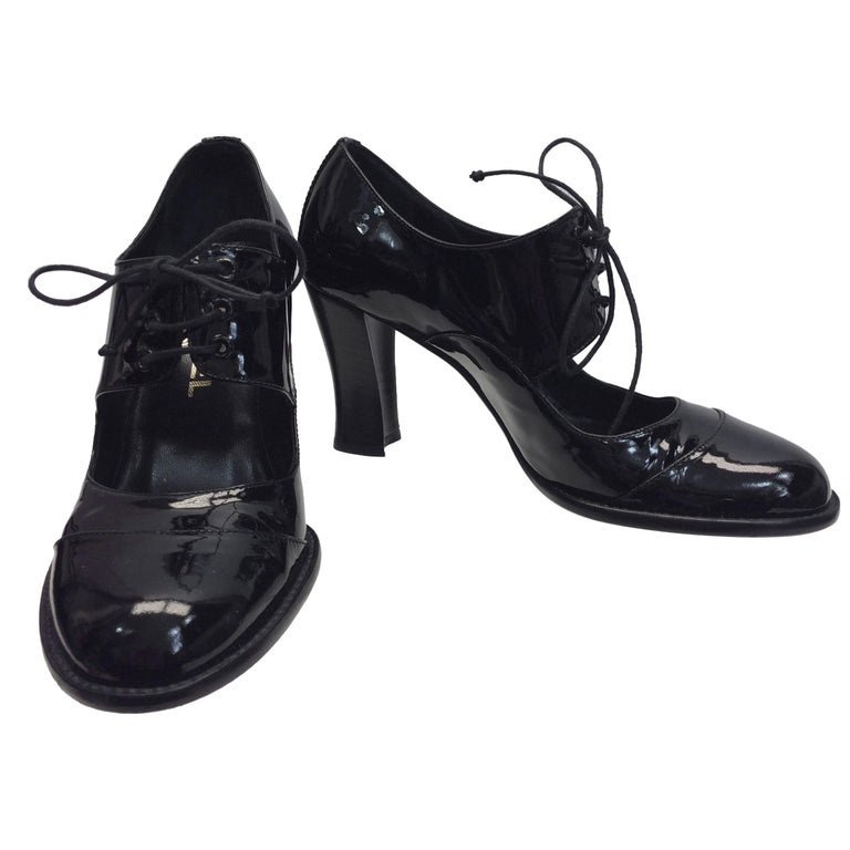 ce56068ecbed Chanel Black Patent Leather  Mary Jane  Heels For Sale at 1stdibs