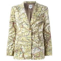 Moschino Cotton Map Blazer