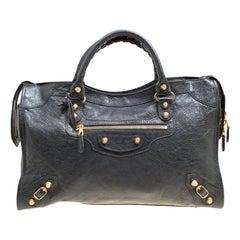 Balenciaga Gris Fossile Leather GH City Bag