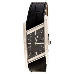 Yves Saint Laurent Paris Black Stainless Steel Gauche Women's Wristwatch 24 mm