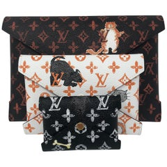 Louis Vuitton Catogram Grace Coddington Clutch Set