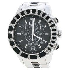 Dior Black Stainless Steel Diamonds Christal CD11431E Women's Wristwatch 38 mm