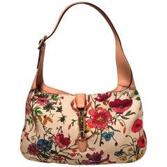 Gucci Multicolor Floral Print Canvas Jackie Shoulder Bag