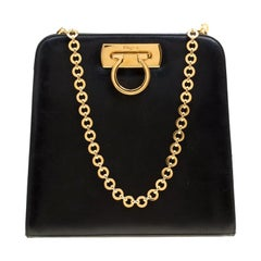 483cda5026 Salvatore Ferragamo Black Leather Shoulder Bag