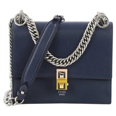 Fendi Kan I Handbag Leather Small