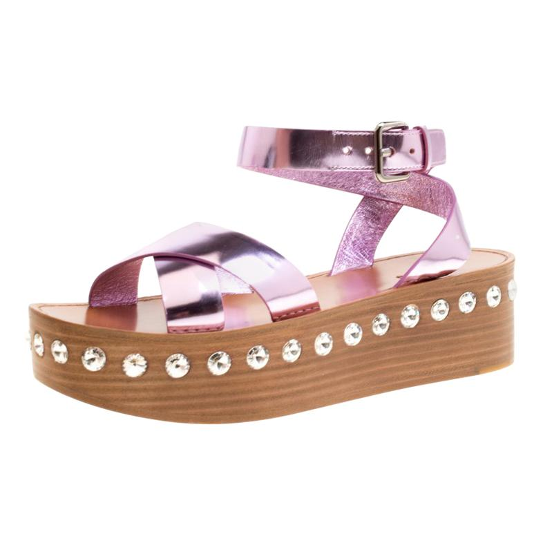 1b5fd556d Miu Miu Pale Pink Velvet Pearl Embellished Buckle Block Heel Loafer Pumps  Size 3 For Sale at 1stdibs