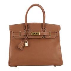 Hermes Birkin Handbag Gold Courchevel with Gold Hardware 30