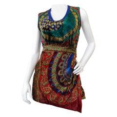 Gianni Versace 1980s Scarf Print Skirt Set