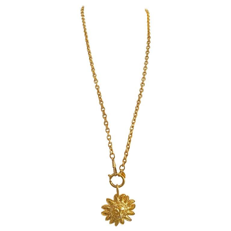 Chanel Vintage Lion Necklace  For Sale