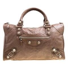 Balenciaga Brown Leather GH Work Tote