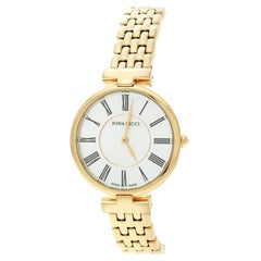 Nina Ricci Gold-Plated Stainless Steel Classic NR60055SM Women's Wristwatch 32mm