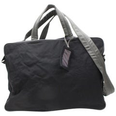 Prada Boston Sports 2way 867765 Black Nylon Shoulder Bag
