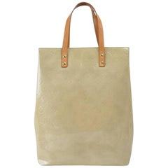 Louis Vuitton Reade Monogram Vernis Mm 867640 Beige Patent Leather Tote