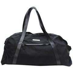 90dcc236e00 Gucci Boston Duffle 867439 Black Nylon Weekend Travel Bag