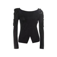 Emporio Armani Black Embellished Sleeve Cardigan S
