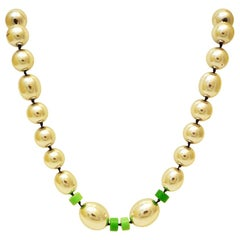 Necklace chrome with bakelite element