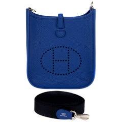 Hermes Evelyne TPM Bleu Bag