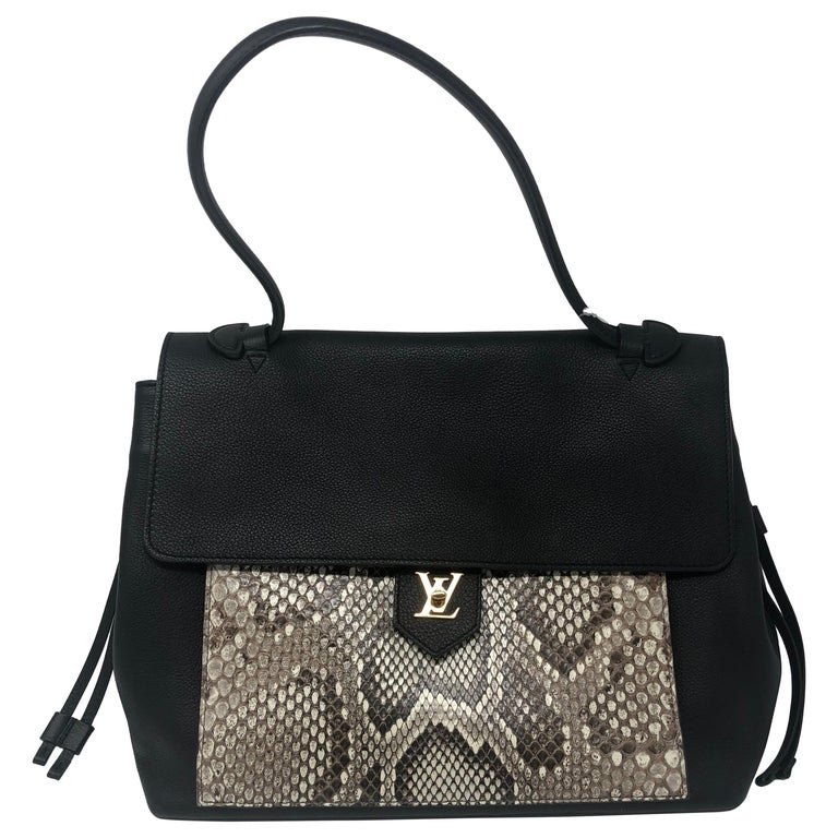 6ed73ed28ac5 Louis Vuitton Lockme MM Black Python Bag For Sale at 1stdibs