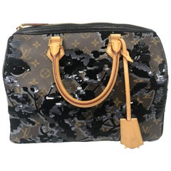 83d930e86aeb Louis Vuitton Fleur De Jais Sequin Speedy 30 Bag