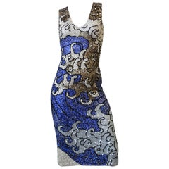 """Farah Khan """"The Great Wave"""" Inspired Sequined Tank Dress"""