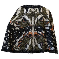 Farah Khan Butterfly Graphic Sequined Cape