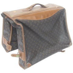"Louis Vuitton Vintage Garment Bag Travel Luggage ""AS IS"" Circa 1970s"