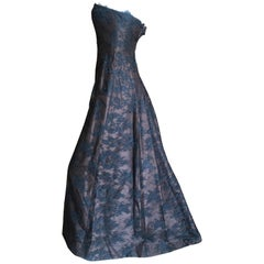 Isaac Mizrahi Vintage Strapless Lace Evening Gown with Inner Corset