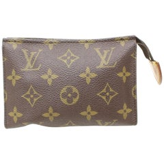Louis Vuitton Brown Poche Monogram Toiletry Pouch 15 Toilette 868441 Cosmetic Ba