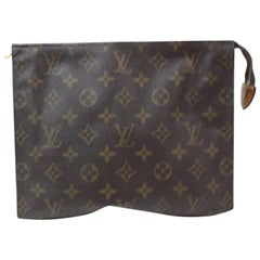 Louis Vuitton Brown Poche Monogram Toiletry Pouch 26 Toilette 868447 Cosmetic Ba